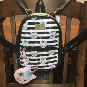 NWT Betsey Johnson Unicorn Kitty Cat Mini Backpack